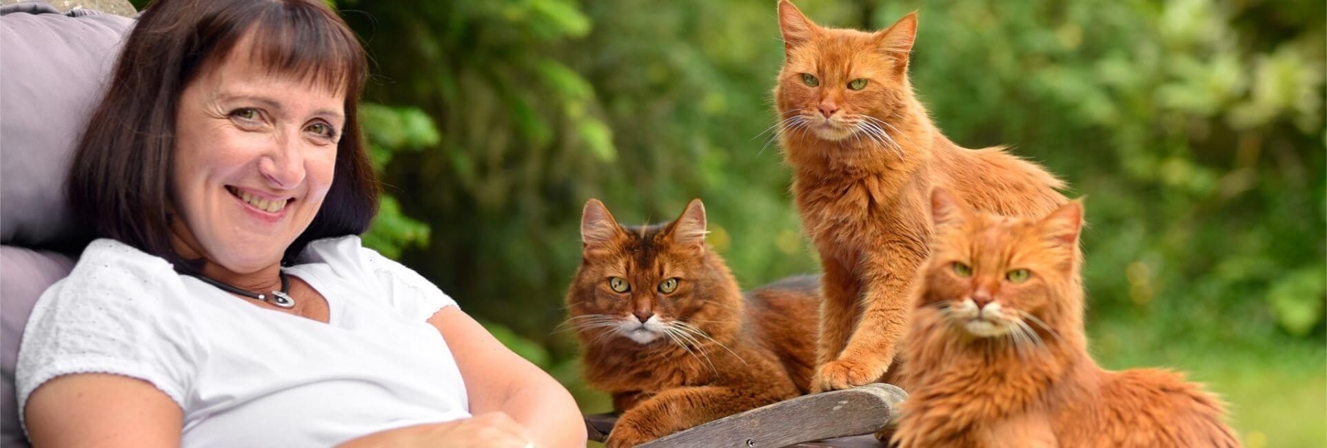 Christiane mit Katze